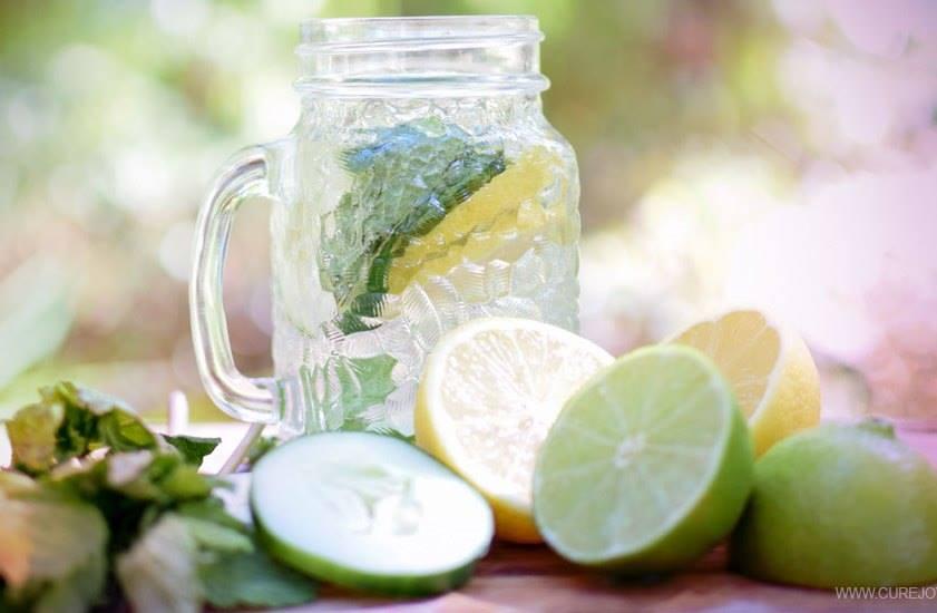 Очищающий напиток: лимон, лайм, мята