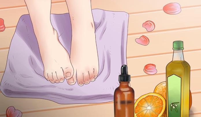 Кокосовое масло против грибка на ногах