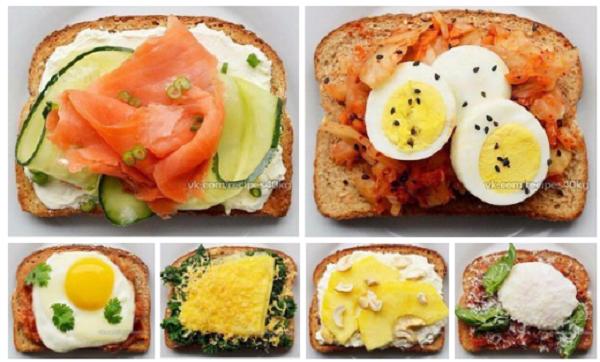 Диетические бутерброды с цельнозерновым хлебом - вкусно и необычно