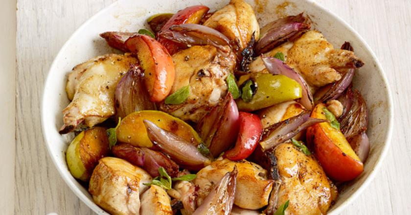 Белковый ПП-ужин - Куриное филе запеченное с яблоками
