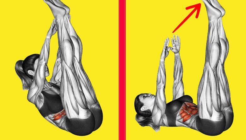 Делайте эти 2 упражнения, и жир на животе и боках растает!