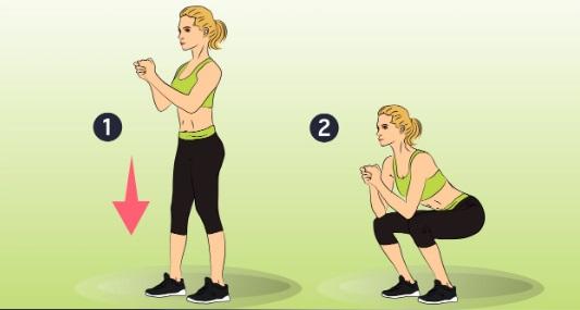 15-минутные домашние упражнения для ног и живота